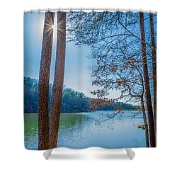 Peeping Sun Shower Curtain