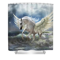 Pegasus Rising Shower Curtain