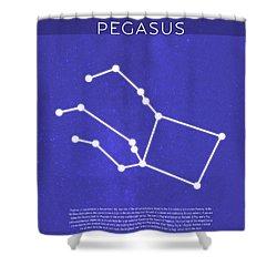 Pegasus The Constellations Minimalist Series 11 Shower Curtain