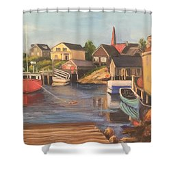 Peggy 's Cove, Halifax Nova Scotia, Canada  Shower Curtain