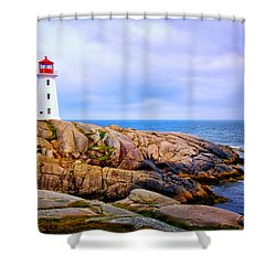 Peggys Cove Lighthouse Shower Curtain