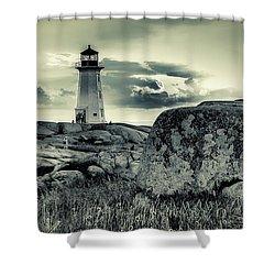 Peggys Cove Lighthouse Shower Curtain