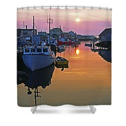 Peggy's Cove Sunset, Nova Scotia, Canada Shower Curtain