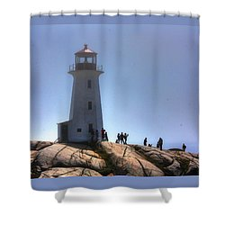 Peggys Light Shower Curtain