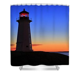 Peggy's Point Lighthouse, Nova Scotia Shower Curtain