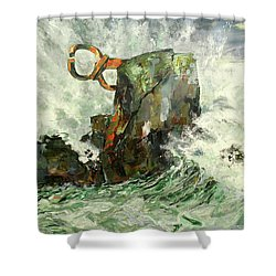 Peine Del Viento Shower Curtain by Koro Arandia
