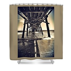 Peir View  Shower Curtain by Christy Ricafrente