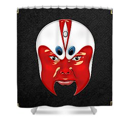 Peking Opera Masks - Wen Zhong Shower Curtain