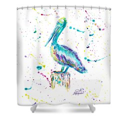 Pelican By Jan Marvin Shower Curtain