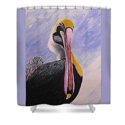 Pelican Head Shower Curtain