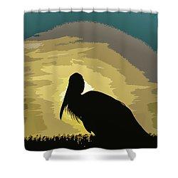 Pelican Paint Shower Curtain