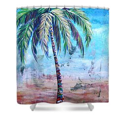 Pelican Palm I Shower Curtain
