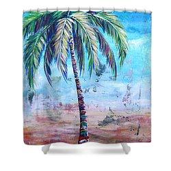 Pelican Palm I Shower Curtain