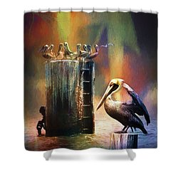 Pelican Ways Shower Curtain