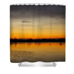 Pella Ponds  December 16th Sunrise Shower Curtain by James BO  Insogna