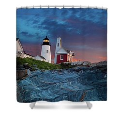 Pemaquid Point Lighthouse At Dawn 2 Shower Curtain