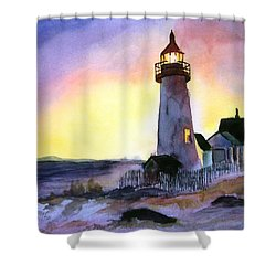 Pemaquid Point Lighthouse Maine Shower Curtain