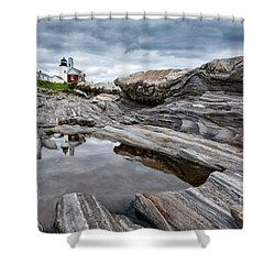 Pemaquid Point Lighthouse Shower Curtain