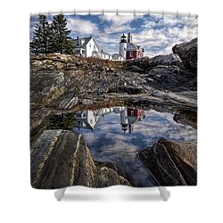 Shower Curtain featuring the photograph Pemaquid Reflected by Jaki Miller