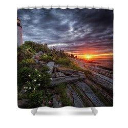 Pemaquid Sunrise Shower Curtain by Neil Shapiro