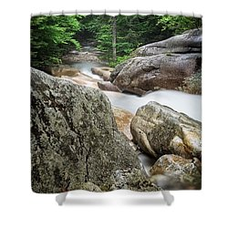 Pemi Above Basin Shower Curtain by Michael Hubley