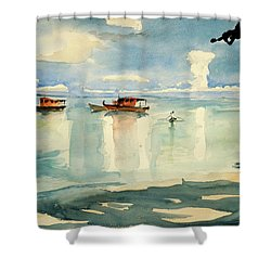 Penang Beach Shower Curtain by Tom Simmons