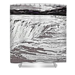 Pencil Falls Shower Curtain