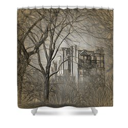 Pencil Sketch Of Beacon Hill Shower Curtain