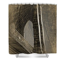 Pencil Sketch Of The Brooklyn Bridge Shower Curtain