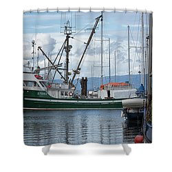 Pender Isle At French Creek Shower Curtain by Randy Hall