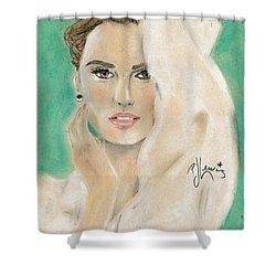 Penelope Cruz Shower Curtain