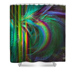 Penetrated By Life - Abstract Art Shower Curtain