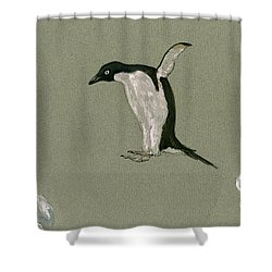 Penguin Jumping Shower Curtain