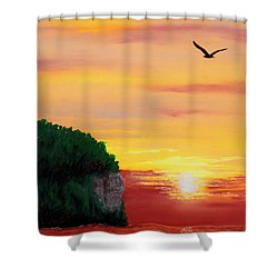 Peninsula Park Sunset Shower Curtain