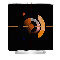 Shower Curtain featuring the painting Penman Original - 216 by Andrew Penman
