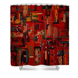 Shower Curtain featuring the painting Penman Original-233 by Andrew Penman