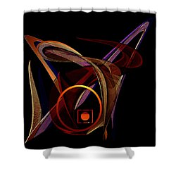 Shower Curtain featuring the painting Penman Original- 248-sunlight Within A Tangled Manic Mind by Andrew Penman