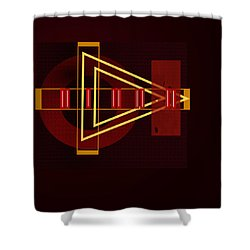 Shower Curtain featuring the painting Penman Original-253 by Andrew Penman