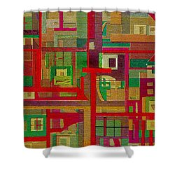 Shower Curtain featuring the painting Penman Original-258 by Andrew Penman