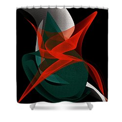 Shower Curtain featuring the painting Penman Original-263-private Dancer by Andrew Penman