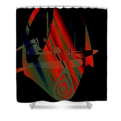 Shower Curtain featuring the painting Penman Original-265- We Are All Ethnic by Andrew Penman