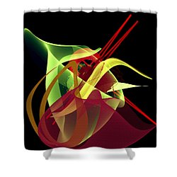 Penman Original-266- Chikakos Dinner Shower Curtain by Andrew Penman