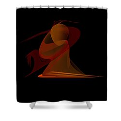 Shower Curtain featuring the painting Penman Original-292-the Unknown Warrior. by Andrew Penman