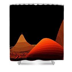 Shower Curtain featuring the digital art Penman Original-294-refuge by Andrew Penman
