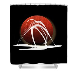 Shower Curtain featuring the painting Penman Original-303 by Andrew Penman