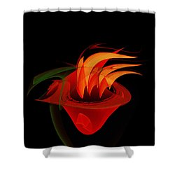 Shower Curtain featuring the painting Penman Original-311-when You Are Hungry by Andrew Penman