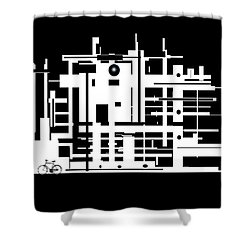 Shower Curtain featuring the painting Penman Original-325- The Visitor by Andrew Penman