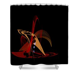 Shower Curtain featuring the painting Penman Original-328 by Andrew Penman