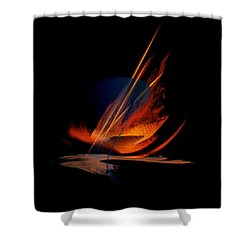 Shower Curtain featuring the painting Penman Original-335 by Andrew Penman