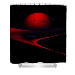 Penman Original-347 Cosmic Curve Shower Curtain by Andrew Penman